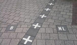 Baarle-Nassau krzywa granica w Holandii