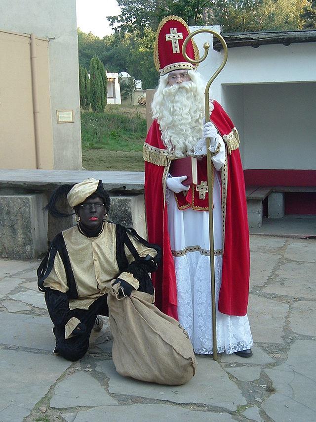 Święty Mikołaj w Holandii z pomocnkiem