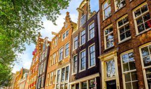 Typowe holenderskie domy